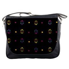 Abstract A Colorful Modern Illustration Black Background Messenger Bags