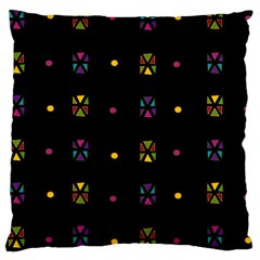 Abstract A Colorful Modern Illustration Black Background Large Cushion Case (One Side)