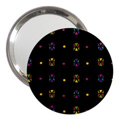 Abstract A Colorful Modern Illustration Black Background 3  Handbag Mirrors