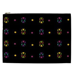 Abstract A Colorful Modern Illustration Black Background Cosmetic Bag (XXL)
