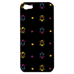Abstract A Colorful Modern Illustration Black Background Apple Iphone 5 Hardshell Case