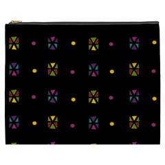 Abstract A Colorful Modern Illustration Black Background Cosmetic Bag (XXXL)