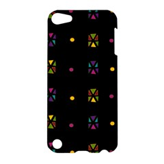 Abstract A Colorful Modern Illustration Black Background Apple Ipod Touch 5 Hardshell Case