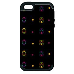 Abstract A Colorful Modern Illustration Black Background Apple iPhone 5 Hardshell Case (PC+Silicone)