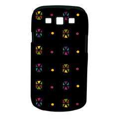 Abstract A Colorful Modern Illustration Black Background Samsung Galaxy S Iii Classic Hardshell Case (pc+silicone)