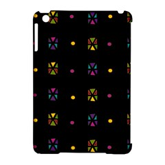 Abstract A Colorful Modern Illustration Black Background Apple iPad Mini Hardshell Case (Compatible with Smart Cover)