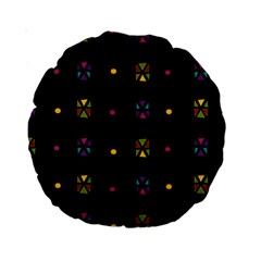 Abstract A Colorful Modern Illustration Black Background Standard 15  Premium Round Cushions