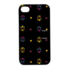 Abstract A Colorful Modern Illustration Black Background Apple iPhone 4/4S Hardshell Case with Stand