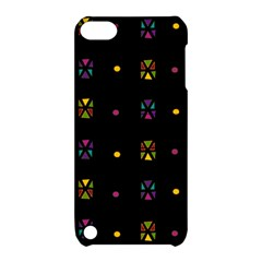 Abstract A Colorful Modern Illustration Black Background Apple iPod Touch 5 Hardshell Case with Stand