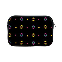 Abstract A Colorful Modern Illustration Black Background Apple Ipad Mini Zipper Cases