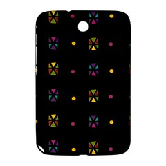 Abstract A Colorful Modern Illustration Black Background Samsung Galaxy Note 8.0 N5100 Hardshell Case