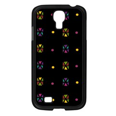 Abstract A Colorful Modern Illustration Black Background Samsung Galaxy S4 I9500/ I9505 Case (Black)