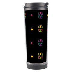 Abstract A Colorful Modern Illustration Black Background Travel Tumbler