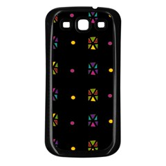 Abstract A Colorful Modern Illustration Black Background Samsung Galaxy S3 Back Case (Black)