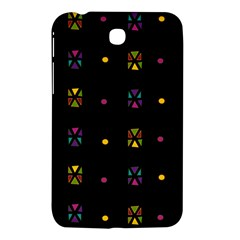 Abstract A Colorful Modern Illustration Black Background Samsung Galaxy Tab 3 (7 ) P3200 Hardshell Case