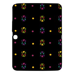 Abstract A Colorful Modern Illustration Black Background Samsung Galaxy Tab 3 (10 1 ) P5200 Hardshell Case