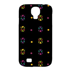 Abstract A Colorful Modern Illustration Black Background Samsung Galaxy S4 Classic Hardshell Case (PC+Silicone)