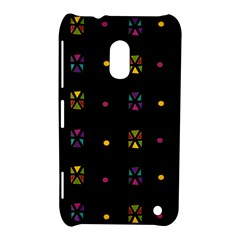 Abstract A Colorful Modern Illustration Black Background Nokia Lumia 620