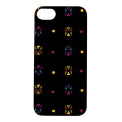 Abstract A Colorful Modern Illustration Black Background Apple iPhone 5S/ SE Hardshell Case