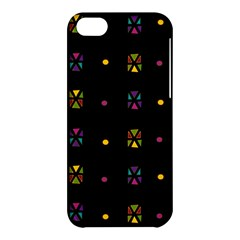 Abstract A Colorful Modern Illustration Black Background Apple iPhone 5C Hardshell Case
