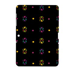 Abstract A Colorful Modern Illustration Black Background Samsung Galaxy Tab 2 (10.1 ) P5100 Hardshell Case