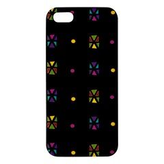 Abstract A Colorful Modern Illustration Black Background iPhone 5S/ SE Premium Hardshell Case
