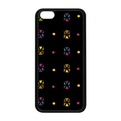 Abstract A Colorful Modern Illustration Black Background Apple iPhone 5C Seamless Case (Black)