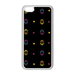 Abstract A Colorful Modern Illustration Black Background Apple iPhone 5C Seamless Case (White)