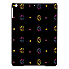 Abstract A Colorful Modern Illustration Black Background iPad Air Hardshell Cases