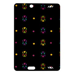 Abstract A Colorful Modern Illustration Black Background Amazon Kindle Fire HD (2013) Hardshell Case