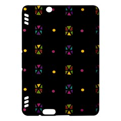 Abstract A Colorful Modern Illustration Black Background Kindle Fire Hdx Hardshell Case