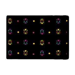 Abstract A Colorful Modern Illustration Black Background iPad Mini 2 Flip Cases