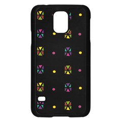 Abstract A Colorful Modern Illustration Black Background Samsung Galaxy S5 Case (Black)