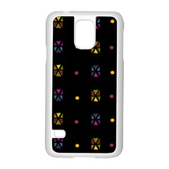 Abstract A Colorful Modern Illustration Black Background Samsung Galaxy S5 Case (White)