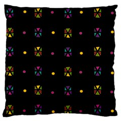 Abstract A Colorful Modern Illustration Black Background Large Flano Cushion Case (One Side)