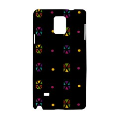 Abstract A Colorful Modern Illustration Black Background Samsung Galaxy Note 4 Hardshell Case
