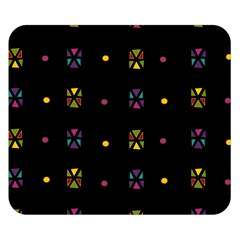 Abstract A Colorful Modern Illustration Black Background Double Sided Flano Blanket (small)