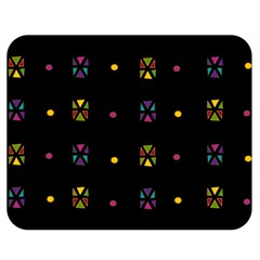 Abstract A Colorful Modern Illustration Black Background Double Sided Flano Blanket (Medium)