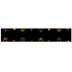 Abstract A Colorful Modern Illustration Black Background Flano Scarf (Large)