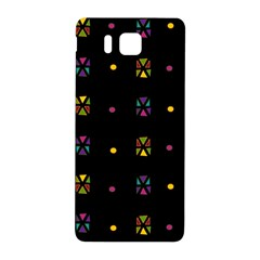 Abstract A Colorful Modern Illustration Black Background Samsung Galaxy Alpha Hardshell Back Case