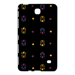 Abstract A Colorful Modern Illustration Black Background Samsung Galaxy Tab 4 (7 ) Hardshell Case