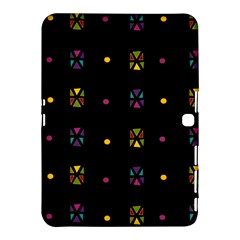 Abstract A Colorful Modern Illustration Black Background Samsung Galaxy Tab 4 (10 1 ) Hardshell Case