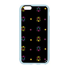 Abstract A Colorful Modern Illustration Black Background Apple Seamless iPhone 6/6S Case (Color)