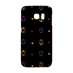 Abstract A Colorful Modern Illustration Black Background Galaxy S6 Edge