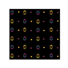 Abstract A Colorful Modern Illustration Black Background Small Satin Scarf (square)