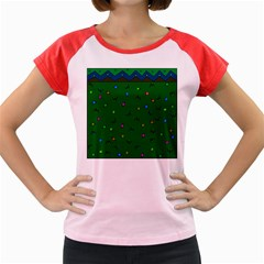 Green Abstract A Colorful Modern Illustration Women s Cap Sleeve T Shirt