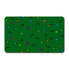 Green Abstract A Colorful Modern Illustration Magnet (Rectangular)