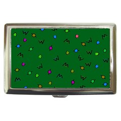 Green Abstract A Colorful Modern Illustration Cigarette Money Cases