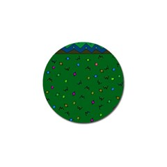 Green Abstract A Colorful Modern Illustration Golf Ball Marker (4 pack)