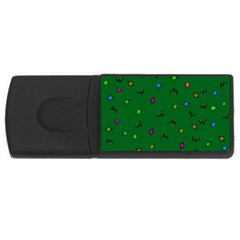 Green Abstract A Colorful Modern Illustration USB Flash Drive Rectangular (1 GB)